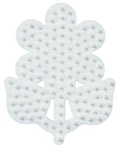 """Hama Stiftplatte """"kleine Blume"""" weiß für Bügelperlen midi"""
