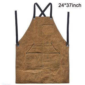 Schweißerschürze aus Leder für Männer. Flammhemmende Thermoschürze zum Schweißen in der Werkstatt. Einstellbare Schutzkleidung mit 6 Werkzeugtaschen.
