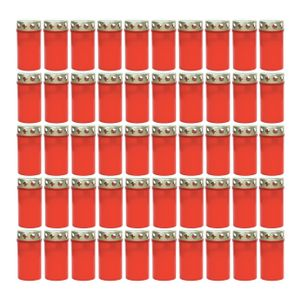 50 Müller Grablicht Tagebrenner Nr. 3 mit Deckel, Rot, NEU