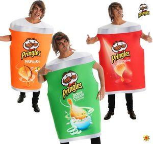 Unisex Original Pringles Kostüm Chips Spaßkostüm , Farbe:grün