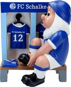 "FC Schalke 04 Gartenzwerg ""Kabine"" 15 x 12 x 17,5 cm"
