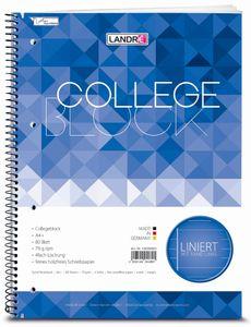 """LANDRÉ Collegeblock """"college"""" DIN A4 liniert 80 Blatt"""