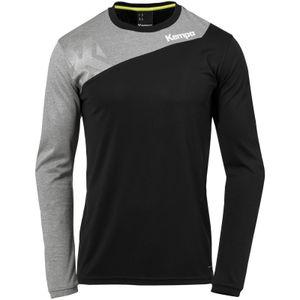 Kempa Core 2.0 Langarmshirt schwarz/dark grau melange L