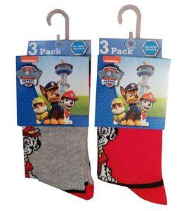 Paw Patrol Socken 6er Pack Rot/Grau 27/30