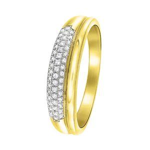 Ring aus 585 Gelbgold mit Diamant -  52