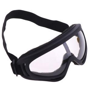 Motorrad Fahrradrennen Snowboard Skibrille Winddichte Antibeschlagbrille Farbe Transparente Linse