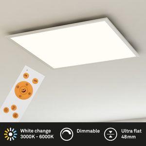 LED Panel dimmbar CCT Fernbedienung Kunststoff 36W LED weiß Briloner Leuchten