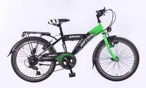 20 Zoll Kinder Jungen Jungenfahrrad City Fahrrad Kinderfahrrad Cityrad Citybike Cityfahrrad Rad Bike Shimano 6 GANG Led Dynamo Beleuchtung STVO Mistral Grün