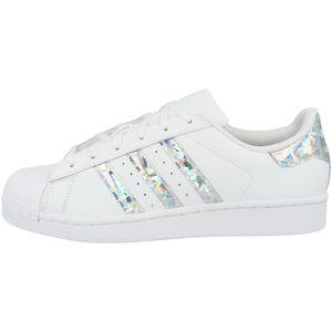 adidas Originals Superstar J Damen Sneaker Weiß Schuhe, Größe:38