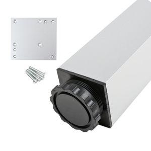 Tischstempel Bistrotischfuss Aluminium Optik Höhe 1100mm Eckig 60x60mm Tischbein