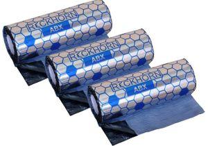 Reckhorn  Alubutyl: Größe 6 m² / 3 Rollen / 40 cm x 5 m / Stärke 2,0 mm / 1,9 mm Butyl 0,1mm Alu. Ein Leichtgewicht mit extremer Wirkung / Dämmung Türdämmung dämmen Autodämmung