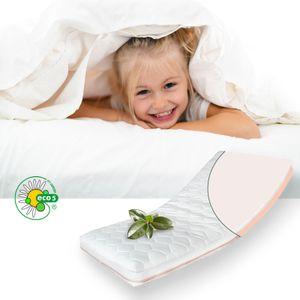 ALCUBE Kindermatratze 180x80 FLEXY aus Latex und Kaltschaum / Gemütliche Matratze für Babybett oder Kinderbett