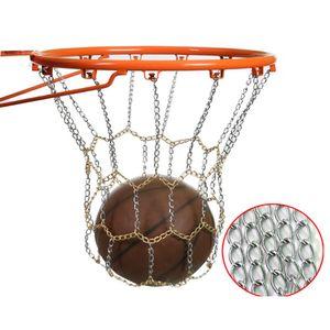 Starkes und langlebiges Metall Basketballnetz,verzinktes Metallnetz Ketten Netz 19,6 Zoll -Silver