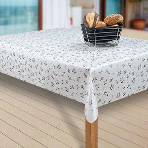 Wachstuch-Tischdecke Wachstischdecke Tischwäsche Abwaschbar Wachstuchdecke, Muster:Rose Weiß, Größe:130-160 cm