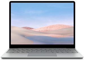 Microsoft Surface Laptop Go Platinum Notebook 12,4 Zoll , Touchscreen Corei5 8GB 128GB SSD, Farbe:Silber
