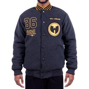 Wu Wear 36 Symbol Jacke, Urban Streetwear Fashion Winterjacke, Hip Hop, Herren Jacket Größe: 3XL Farbe: Anthrazit