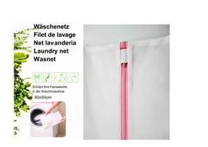 3 Stück Wäschenetz Wäschesack Wäschetasche Set Waschbeutel mit Reißverschluss