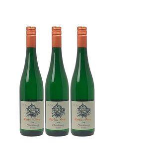 Weißwein Mosel Chardonnay Weingut Markus Burg Qualitätswein feinherb und vegan (3x0,75l)