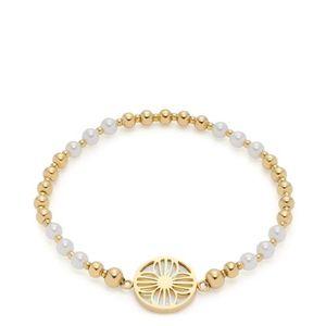 Leonardo 019708 Damen-Armband Susanna Goldfarben/Perle