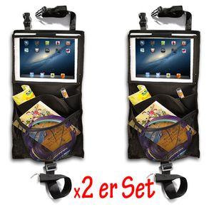 ET 2x Auto Rückenlehnenschutz Rückenlehnen Tasche durchsichtige