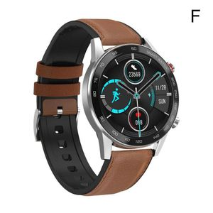 Silber Lederband (F) $ DT95 intelligente Uhren Bluetooth-Telefon Zahlung Sport Pulsuhr Blutdruck Armband, Blutsauerstoff-EKG