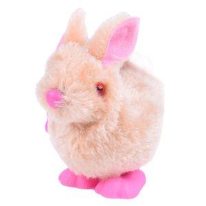 Pluh Bunny Toys Infant Child Gefüllte Spielzeug Hopping Wind Up Ostergeschenk WTJ210224082