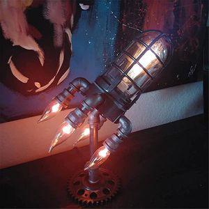 Steampunk-Stil Rocket Lampe verzinktes Eisen Anti-Rost Geschenk für Vater/Kinder/Freunde Retro 14*24cm