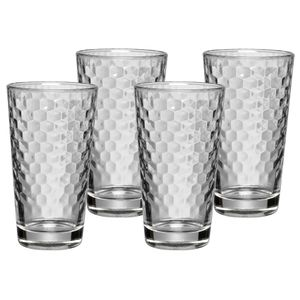 WMF Latte Macchiato Glas Honeycomb 4 teilig