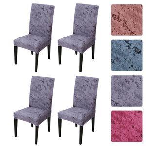 4Stk. Gedruckte Stuhlhussen aus weicher Seidenmilch