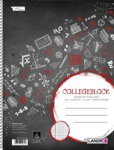 """LANDRÉ Collegeblock """"college"""" DIN A4 kariert 80 Blatt"""