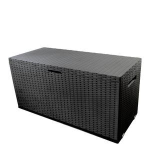 Auflagenbox Nizza Kissenbox Anthrazit 350L 120x52xH60cm