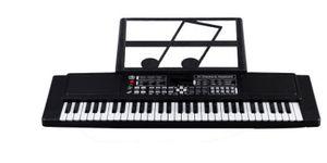 61 Schlüssel Einsteiger Keyboard E-Piano Kinder Piano 61 Tasten Mit Mikrofon de black