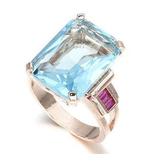 Fingerring Diamantring Ring Exquisite Mode Aquamarin Hochzeit Verlobung