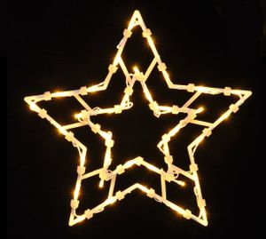 LED Weihnachts Fenster Silhouette KLEIN - Motiv: Stern