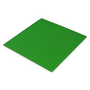 Platte 25,5cm x 25,5cm / 32x32 Pins, Große Grund- Bauplatte für Lego, Q-Bricks, MY, Sluban kompatibel, Grund-Platte, Grün für Wiese, Gras, Rasen