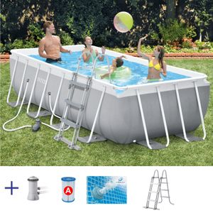 Intex Frame-Pool-Set Prism Quadra   400 x 200 x 100 cm   inkl. Pumpe   26788GN