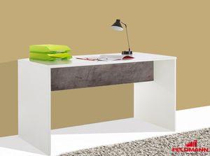 Jugendzimmer Schreibtisch Joker weiß / beton 140cm