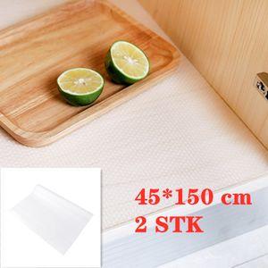2 Stk 45*150 cm Schubladenmatten transparent Liner Antirutschmatte rutschfeste Tischsets Für Schubladen und Regale Schrank