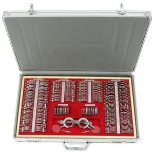 266x Gläserkasten Probiergläserkasten Metall Messbrille Rahmen Kreuzzylinde Satz