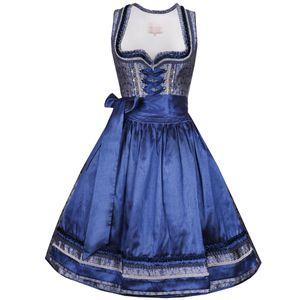 Midi Dirndl Vanessa in Blau von Krüger Collection, Größe:32, Farbe:Blau