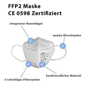 FFP2 Maske Mundschutz Schutzmaske 5-lagig Atemschutzmasken CE  20 Stck HHW