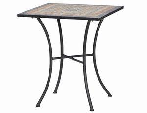 Gartentisch / Balkontisch Siena Garden Prato 64x64 Stahl/Mosaik/schw.