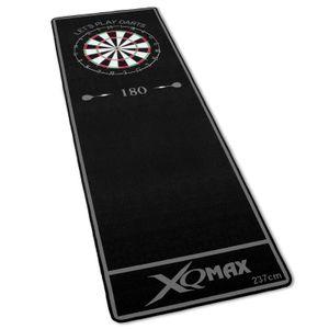 Turnier Dartmatte grau/schwarz 237x80cm Dartteppich Dart Matte mit offiziellem Spielabstand