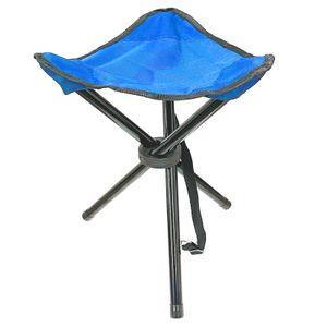 Camping Hocker Falthocker Angelhocker Inkl. Tragegurt Campingstuhl Dreibeinhocker 110kg Campinghocker Faltbar Blau