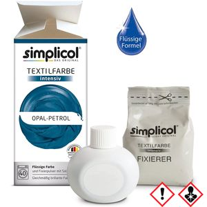 Simplicol Textilfarbe intensiv all in 1 Flüssig in Opal Petrol