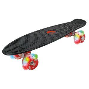 Best Sporting LED Skateboard Retro für Kinder, ABEC 7 Kugellager, Leucht-Räder mit LED