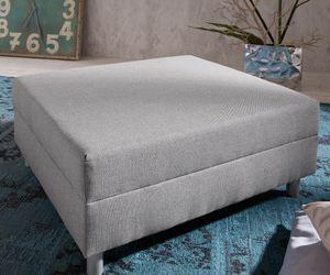 Sofa-Hocker Clovis Grau Modul B98 x T83 Flachgewebe Sitzhocker