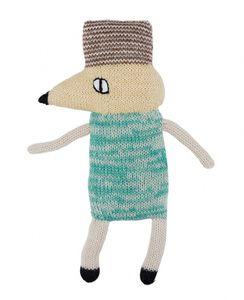 LuckyBoySunday kuschelmaus 20 cm Alpaka-Wolle blau