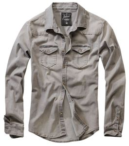 Brandit Hemd Riley Denimshirt in Denim Grey-L