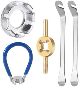 5PCS Fahrrad Speichenschlüssel Universal Speichenspanner für Fahrrad Rad Zentrierer Nippelspanner Spannschlüssel mit Reifenheber Fahrradwerkzeuge Reparieren